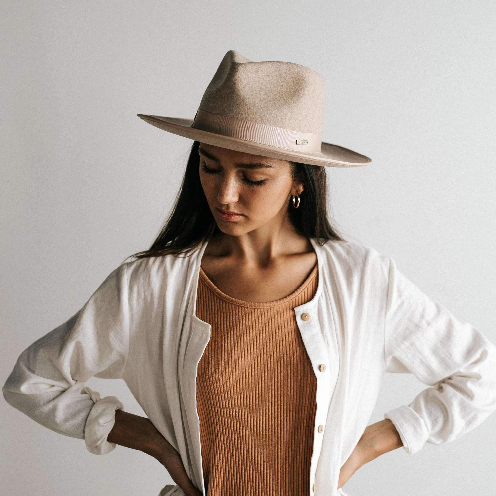 Gigi Pip a hat store-MONROE RANCHER - OATMEAL