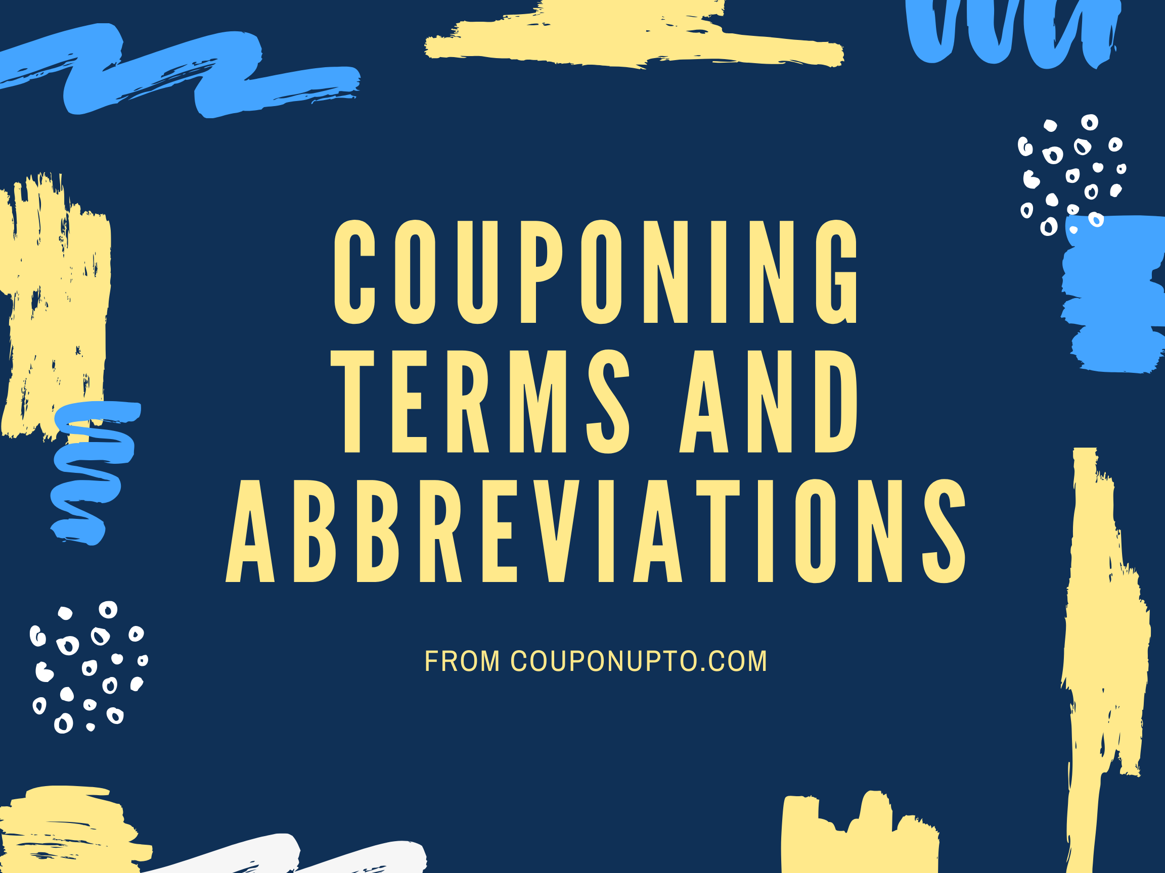Couponing Terms and Abbreviations