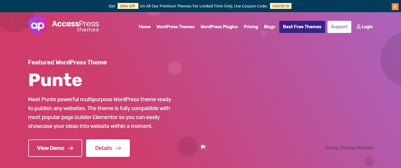AccessPress themes website