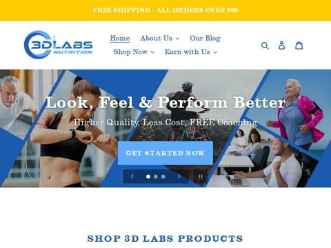 3D Labs Nutrition Coupons and Promo Code