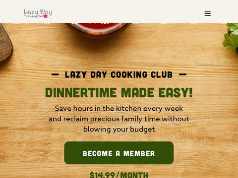 Lazy Day Cooking Club Coupons and Promo Code