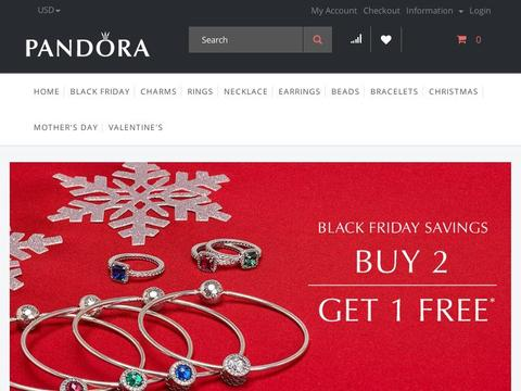 Pandora Jewelery Coupons and Promo Code