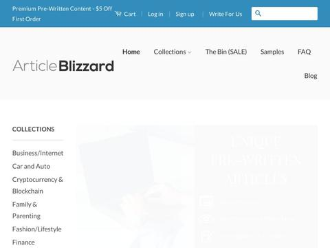 Articleblizzard.com Coupons and Promo Code