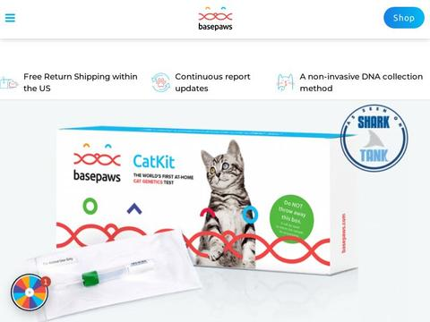 Gets A Cat DNA Test $25 Off At Basepaws