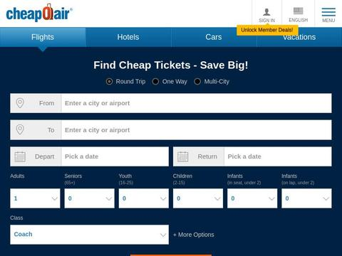 CheapOair Coupons and Promo Code
