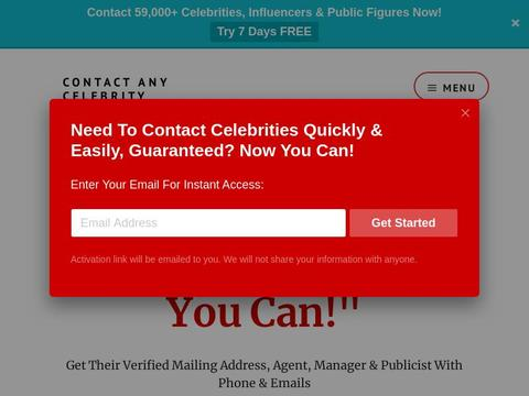 Contact Any Celebrity Coupons and Promo Code