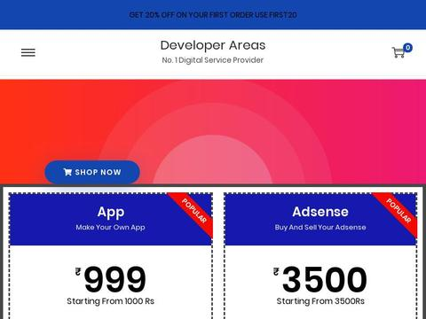 Developer Areas Coupons and Promo Code