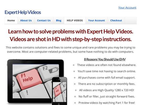 Expert Help Videos Coupons and Promo Code