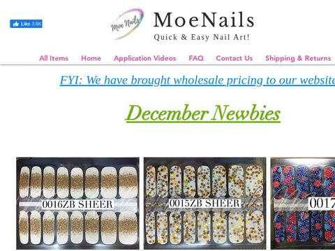 MoeNails Coupons and Promo Code