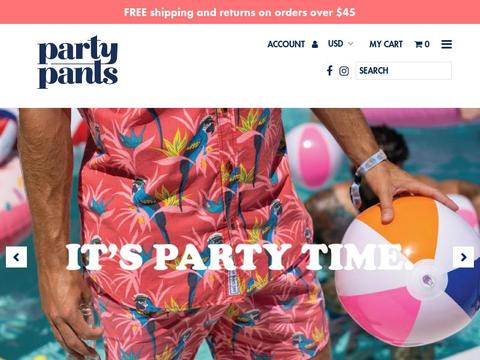 Party Pants Usa Coupons and Promo Code
