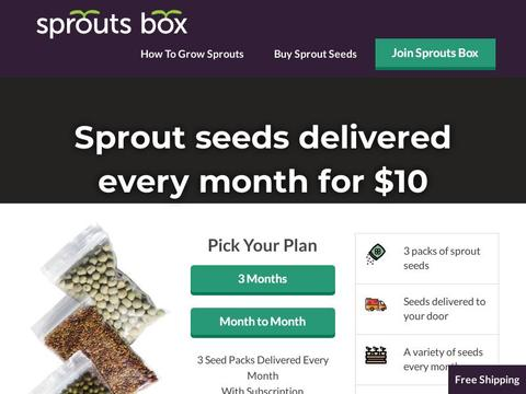 Sprouts Box Coupons and Promo Code