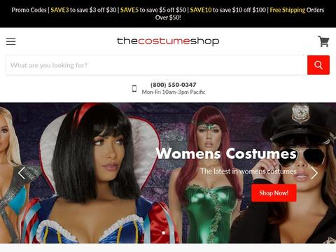 The Costume Shop Coupons and Promo Code
